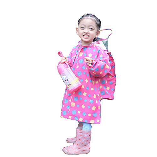 Kinder Regenmantel Geyao Mädchen Kindergarten Jungen Baby Regen Stiefel Set Grundschule Kinder 2-6 Male Kinder 1-3 Poncho (Size : L) (Burberry Regen Stiefel)