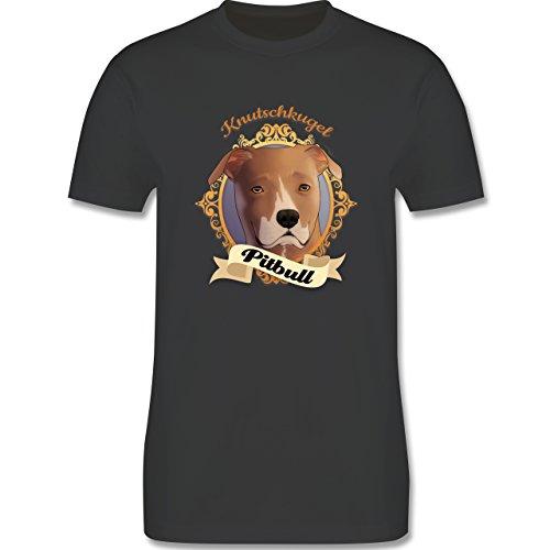 Hunde - Pitbull - Knutschkugel - Herren Premium T-Shirt Dunkelgrau