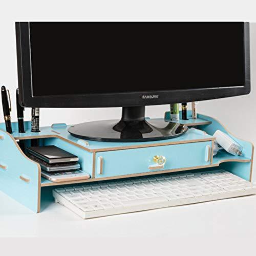 HKPLDE Monitorständer/Holz Bildschirmerhöhung Ergonomisches mit Stauraum Für Heim und Büro Bildschirmständer Bildschirm-E 80 Lb Arm