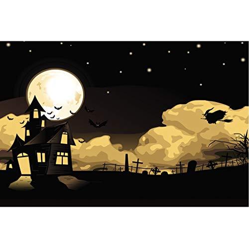 Yearnly Halloween Hintergrund Halloween-Dekorationen Kürbis Hintergrund für Fotografie-Studio 90x150cm -