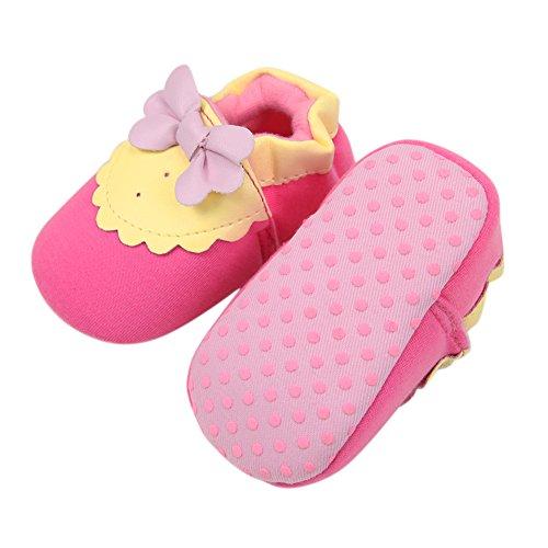 CHIC-CHIC 3-12 Monate krabbelschuhe Baby Weich Bowknot nette Winter Warm Schuhe Wohnungen Boot Krippe Puschen (9-12 Monate)
