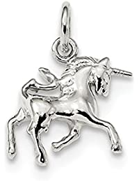 ICE CARATS 925 Sterling Silver Unicorn Pendant Charm Necklace Animal Fine Jewelry Gift Set For Women Heart