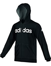 adidas LIN3S FZHood - Sudadera para hombre, color negro