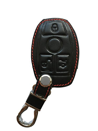 MAINT-Lederetuis Schlüsseltasche Hülle Etui Leder - Schutz & Schlüsselanhänger Ersatz - Schlüssel Cover - für A GLA CLA B C CLC E CLS ML GLE GLK S SL SLK Klasse W176 W212 W166 Kombi Limousine SUV