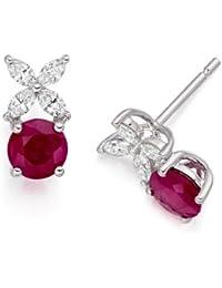 Diamond Manufacturers - Boucles d'Oreilles Femme avec 8 diamanten - Platine