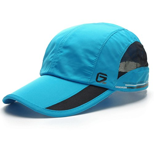 GADIEMENSS Quick Dry Sports Hat Lightweight Breathable Soft Outdoor Running Cap (Classic UP, Sky Blue)