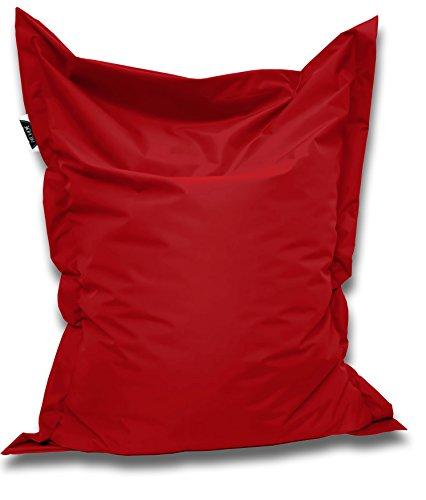 Patchhome Sitzsack und Sitzkissen Eckig - Rot - 145x100cm in 25 Farben und 7 versch. Größen