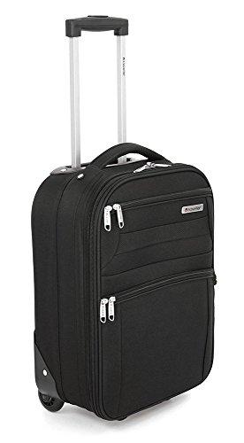 Traveller Basic Kleiner Stoffkoffer für Damen / Herren, 2 Rollen Koffer - 32x21x43 - XS (28L), Schwarz