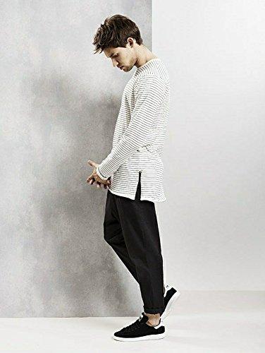 !Solid Herren T-Shirt - Torben - Gestreift - Schwarz Weiß Schwarz/Weiß