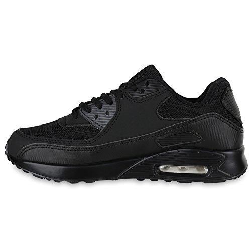 Damen Herren Unisex Laufschuhe Neon Runners Casual Schuhe Sportschuhe Schwarz Total
