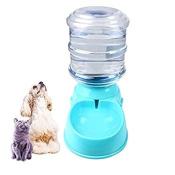 IHRKleid Fontaine à eau automatique pour animaux domestique Apport d'eau potable pour chat et chien Distributeur de nourriture 3,5 litres