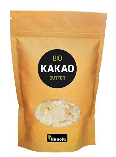 Hanoju Bio Kakaobutter, desodoriert 250 g - Probieren Sie unsere Kakaobutter auch als Beautyprodukt zur unterstützenden Pflege für Haut und Haare -