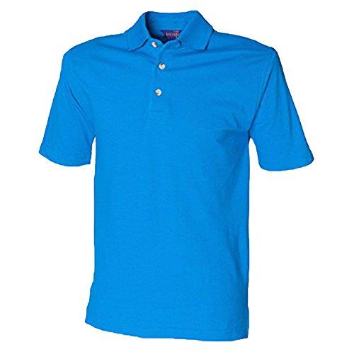 Henbury Herren Modern Poloshirt Lebhaftes Blau