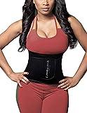 Waist Trainer Corset,Camellias Damen/Männer Taillengürtel Geburt Bauch Weg Body Shaper Verstellbar Taillenmieder Gürtel für Weight Loss,UK-DT8010-Black-M
