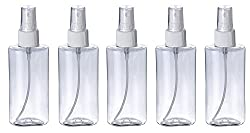 AASA Empty Bottles for Travelling, Lotion, Cosmetic, Liquid, Perfumes, Hair Spray Bottle Empty for Salon, Small Spray Bottles Set for Face and Hair, 200 ml, 5 Pcs, Pack of 1, (11460)