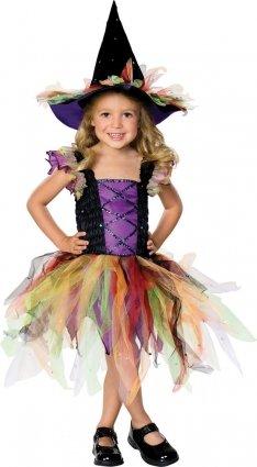 Children - Disfraz de bruja para niña, talla 5 - 7 años