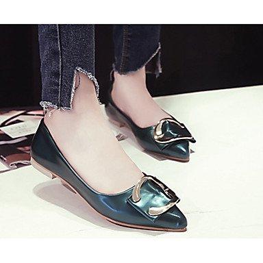 Confortevole ed elegante piatto scarpe donna appartamenti rientrano Appartamenti brevetto ufficio in pelle & Carriera tacco piatto Bowknot nero / verde / Rosa Altri Pink