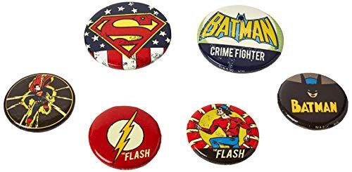 DC Comics Pack CHAPAS Retro, Metal, Multi, 15 x 10 x 10 cm
