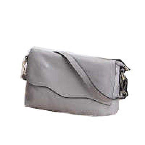 PACK Borsa In Pelle Portable Ladies Borsa Piccola Borsa Quadrata Messenger Bag Frizione Impermeabile Gorgeous Facile Da Curare Convenient Stylish Wild,D:Gray D:Gray