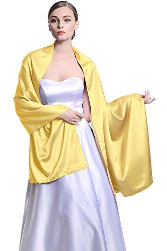 sitio de buena reputación 0ca70 1dac9 Chal Estola Mujer Seda Satén para Fiesta Novia Boda 25 Colors