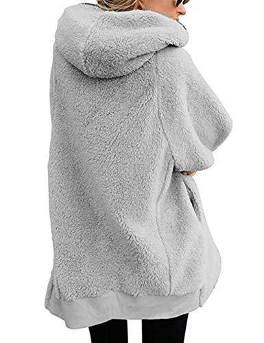 bridene Soteer Wintermantel Damen Revers Faux Wolle Winter Mantel Warm Outwear Plüsch Jacke Winterparka