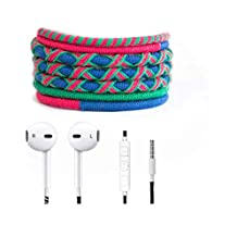 Crossloop Designer Series 3.5mm Universal In-Ear Headphones With Mic And Volume Control (Blue, Green & Pink Combination)