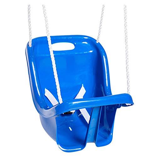 ohem Rücksitz für Kinder, Kunststoff-Aufhängekorb für Innen und Außen, Schaukel für Kleinkinder, mit PE-Seil, Spielgeräte Blue ()