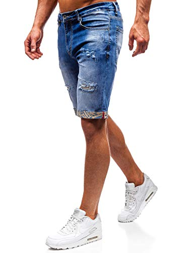 BOLF Herren Kurzhose Jeanshose Sporthose Casual Short Hose Ross KEMP T399 Blau 29 [7G7] -