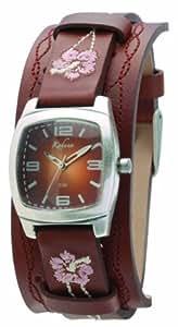 Kahuna Kus-0035L Ladies Brown Leather Cuff Watch