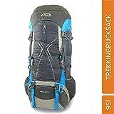 MONTIS Ventro 85+10 Unisex Trekking-Rucksack, Wander-Rucksack & Reise-Rucksack, ermöglicht Dank Regenschutz auch Bike- & Campingtouren, moderner Look mit Wirbelsäulenentlastung & Belüftungssystem