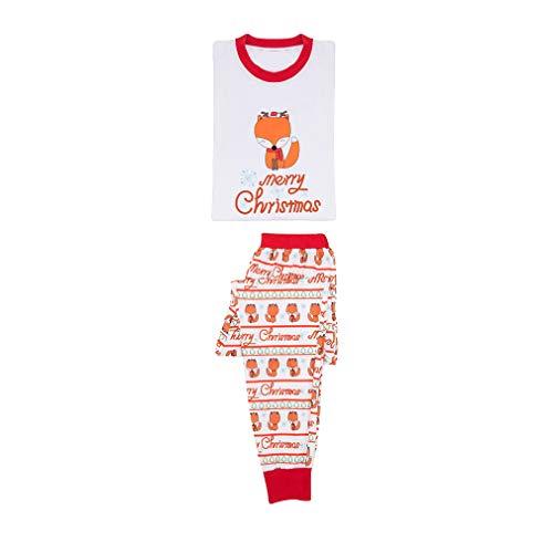 MEIHAOWEI Xmas Family Passende Pyjamas Erwachsene Frauen Mom Dad Kinder Baby Nachtwäsche Nachtwäsche Fox Pyjama Set Weihnachten Kostüm MOM XL (Mom Passenden Kostüm)