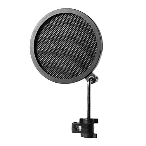 Funnyrunstore Dual Layer Recording Microphone Filter Mask Metal Mesh Shield Microfono Parabrezza per Registrazione vocale Youtube