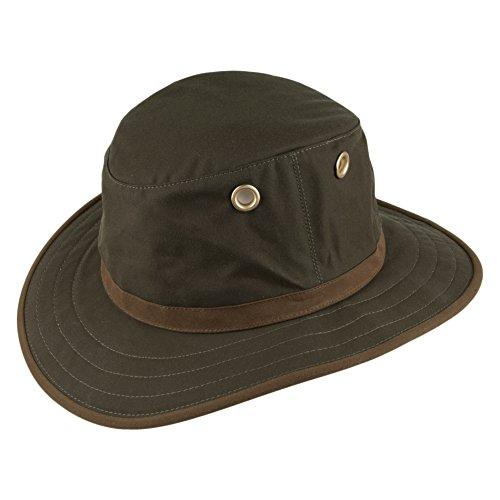 ec7a8a32fe1 Village Hats Tilley TWC7 Outback Hut aus gewachster Baumwolle - Olivgrün -  7 1 8