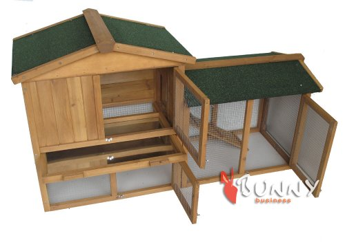 BUNNY BUSINESS The Grove Double Decker Rabbit/ Guinea Pig Hutch and Run, Brown 4