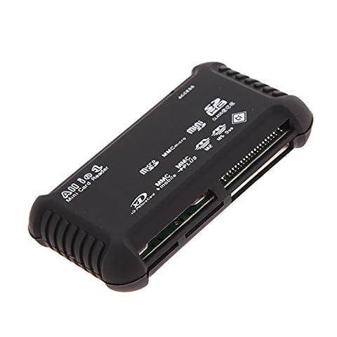 DOMYBEST Externe Tout en 1 Lecteur de Carte Mémoire USB 2.0 SD SDHC Mini Micro M2 MS