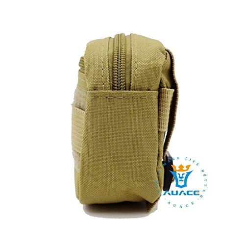 Multifunktions Survival Gear Tactical Beutel MOLLE POUCH Military Field Kleinteile Bag, Outdoor Camping Tragbare Travel Bags Handtaschen Werkzeug Taschen Waist Bag Handy Pouch KH