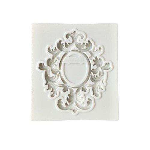 FOReverweihuajz Molde de silicona para fondant de flores, estilo barroco, para decoración de cupcakes, chocolate, azúcar, etc. 4 tipos disponibles, 1, Relief Frame