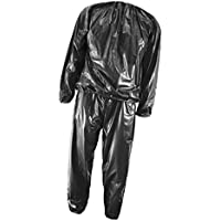 Generic 2pcs Set de Vêtements de Sudation PVC Jogging de Sudation Sauna  Fitness Gym Minceur Perte 91d00391b3d