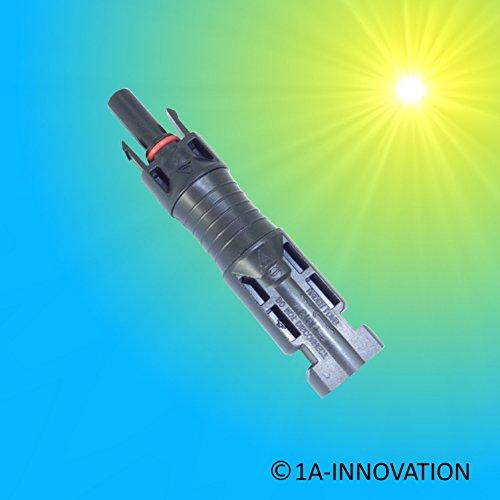 Conector Compatible MC4Solar diodos para módulos solares para evitar la correr un trasera de Torrent. el conector ya contiene un diodo. ideal para sistemas de isla Solar con dos módulos. datos técnicos: TÜV y UL Certificación insulation Material: po...
