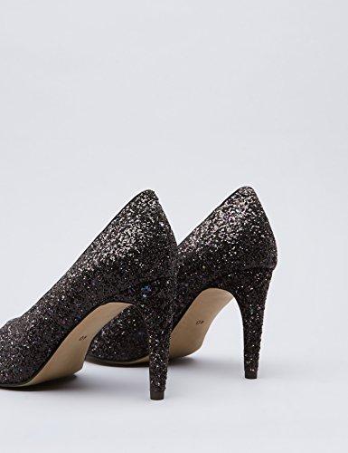 FIND Scarpe con Tacco Donna Multicolore (Black Multicolour)