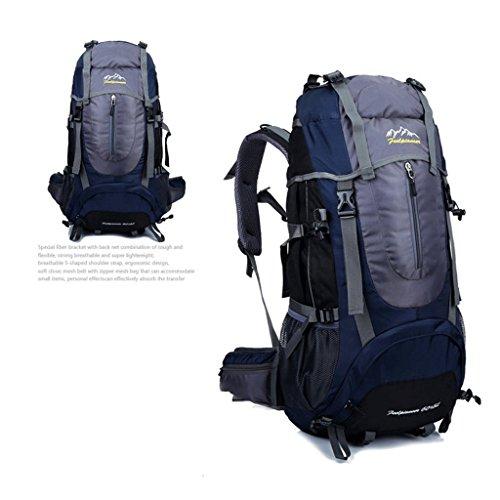 sacchetto di alpinismo di sport all'aperto borsa zaino da escursione multifunzionale singola zaino blu marino
