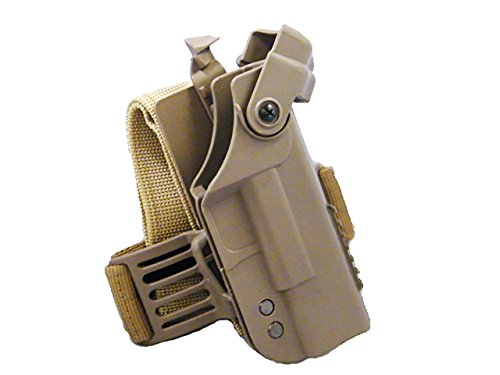Tactical Drop Leg Drop Leg Right Hand Glock Lock Pistol Holder Airsoft Hunting Tan