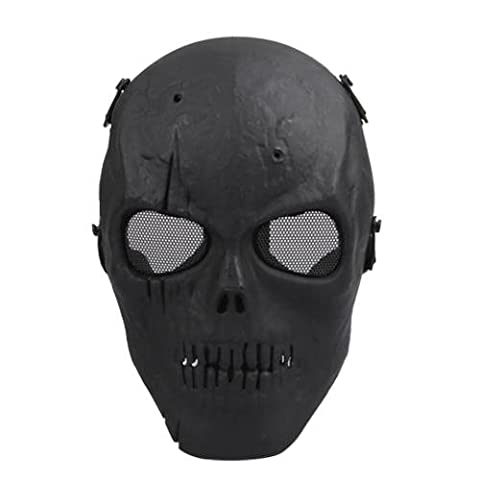 TOMOUNT Halloween Costume Black Army Military Skull Skeleton Full Face Mask Tactical BB Gun Game Paintball Airsoft Protect