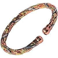 """magnetisch 3 farbig Entwined solide Kupfer Armband - 3 Handgelenk Größen - CCB -mb36 - Large - 195mm (7 3/4"""")... preisvergleich bei billige-tabletten.eu"""