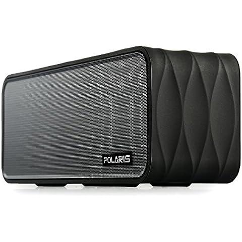 Polaris V8 - 9W (4.5WX 2) Altavoz Bluetooth portátil con radio FM, Micro SD Reproductor de MP3, NFC y extraíble 18650