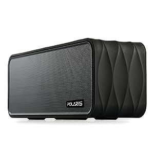 Polaris V8 - 9W (4.5WX 2) altoparlante Bluetooth portatile con radio FM, micro SD Lettore MP3, NFC, display a LED e rimovibile 18650 Li-ion (Nero)