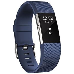 Fitbit Charge 2 - Pulsera de actividad física y ritmo cardiaco unisex, color azul, talla L