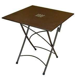 Tavolo pieghevole in ferro arredo giardino 70x70 per for Arredamento per giardino outlet