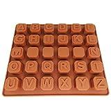 JJOnlineStore–UK 3D-Love Gun A-Z Buchstaben-Zeichensätze Rose Design Form Silikon Fondant Form Kuchen Plätzchen Jelly Ice Desserts DIY Dekorieren Schokolade Formen Backen