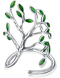 Árbol de plata de ley 925anillo con tamaño ajustable